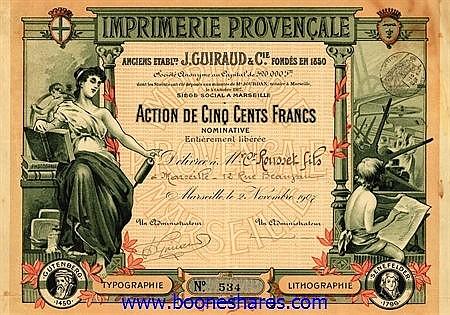 IMPRIMERIE PROVENCALE (ANCIENS ETS. J. GUIRAUD & CIE) S.A.