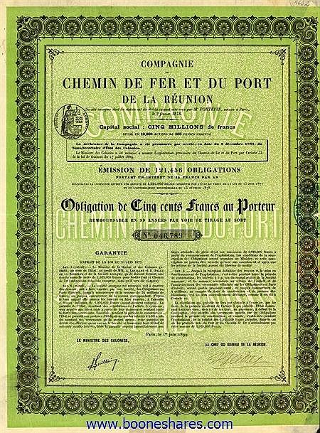 C.D.F. ET DU PORT DE LA REUNION, CIE.
