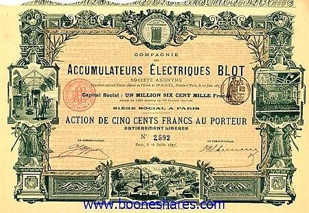 ACCUMULATEURS ELECTRIQUES BLOT