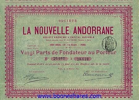 LA NOUVELLE ANDORRANE, SOC. DE