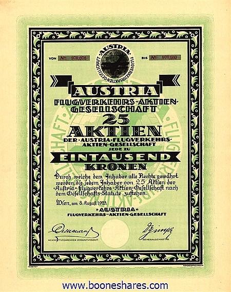 AUSTRIA FLUGVERKEHRS AG