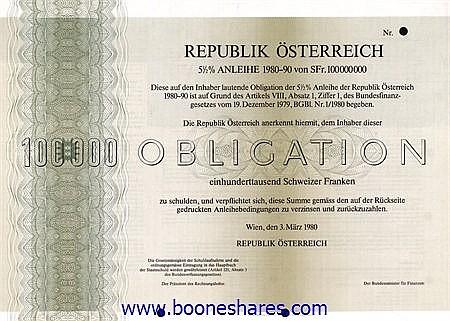 REPUBLIK ÖSTERREICH (4 types)
