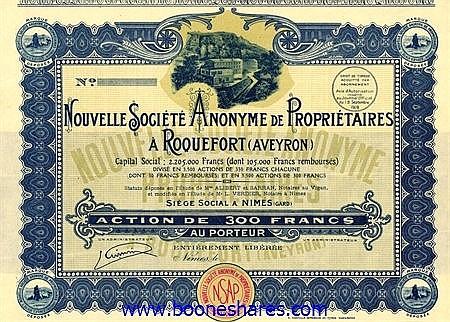 NOUVELLE S.A. DE PROPRIETAIRES A ROQUEFORT (AVEYRON)