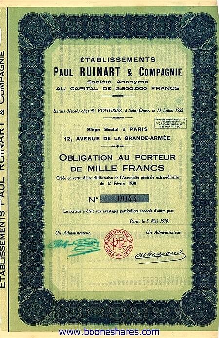 PAUL RUINART & CIE., ETS.