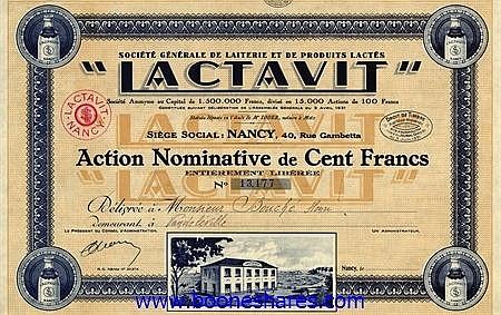 LACTAVIT, SOC. GENERALE DE LAITERIE ET DE PRODUITS LACTES