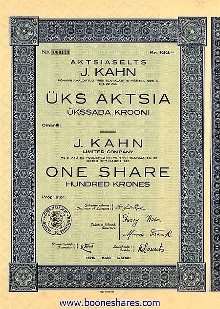 J. KAHN LTD CO.