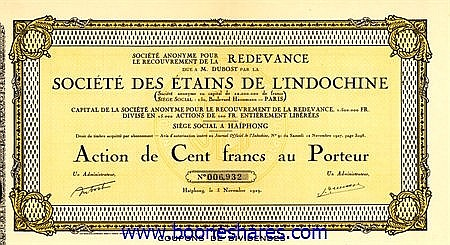 ETAINS DE L'INDOCHINE, SOC. DES