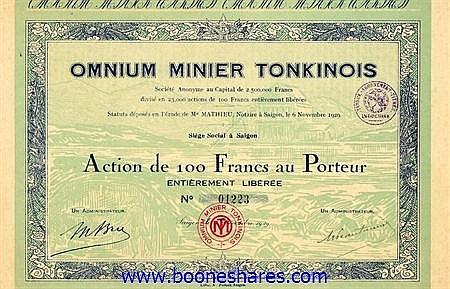 OMNIUM MINIER TONKINOIS S.A.