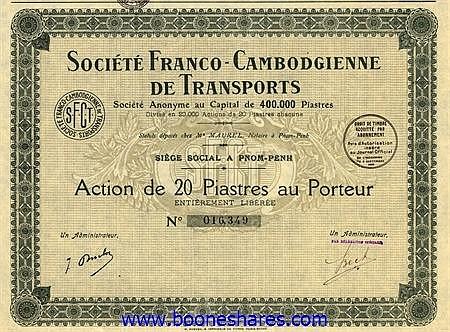 FRANCO-CAMBODGIENNE DE TRANSPORTS, SOC.