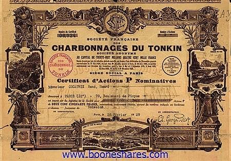 CHARB. DU TONKIN, SOC. FRANCAISE DES
