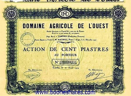 DOMAINE AGRICOLE DE L'OUEST S.A.