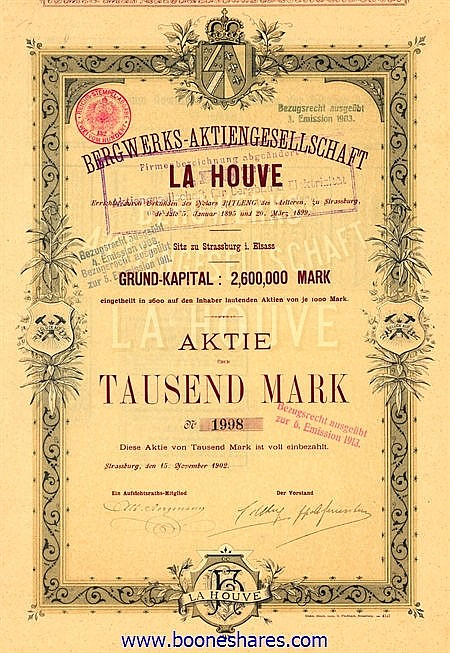 BERGWERKS-AG LA HOUVE