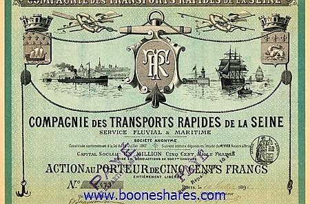TRANSPORTS RAPIDES DE LA SEINE, CIE.