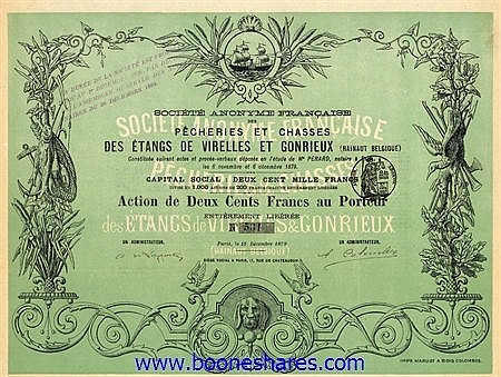PECHERIES ET CHASSES DES ETANGS DE VIRELLES ET GONRIEUX, S.A. FRANCAISE DES