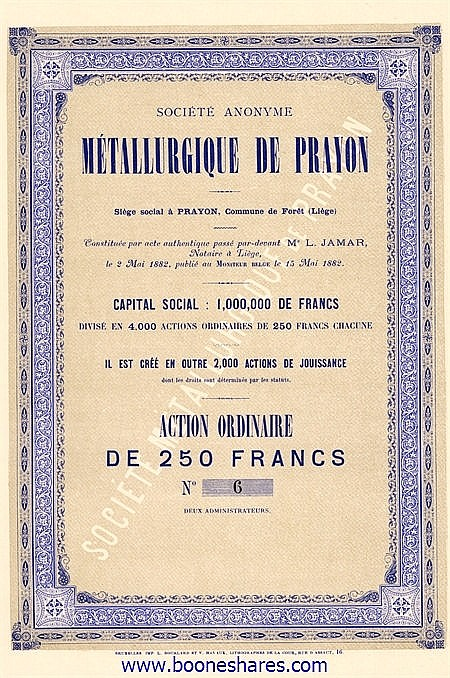 METALLURGIQUE DE PRAYON S.A.