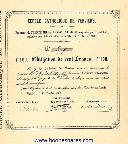 CERCLE CATHOLIQUE DE VERVIERS