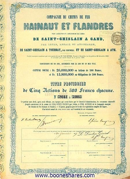 C.D.F. HAINAUT ET FLANDRES, CIE. DU