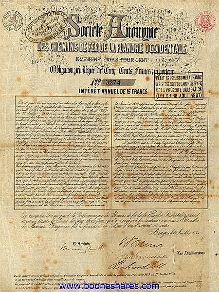 C.D.F. DE LA FLANDRE OCCIDENTALE S.A.