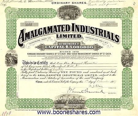 AMALGAMATED INDUSTRIALS LTD.