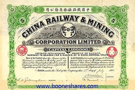 CHINA RAILWAY & MINING CORP. LTD
