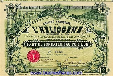 HELIOGENE IRRADIATEUR A GAZ, SOC. FR.