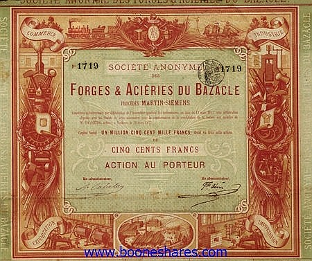 FORGES & ACIERIES DU BAZACLE, S.A. DES