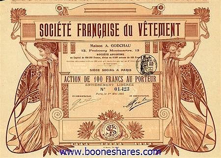 VETEMENT, SOC. FRANCAISE DU - MAISON A. GODCHAU