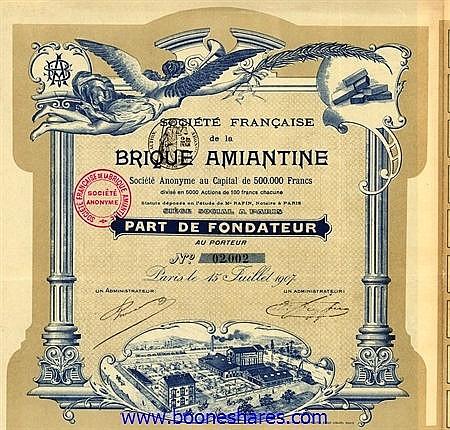 BRIQUE AMIANTINE, SOC. FRANCAISE DE