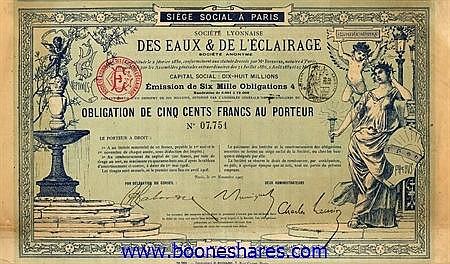 EAUX & DE L'ECLAIRAGE, SOC. LYONNAISE