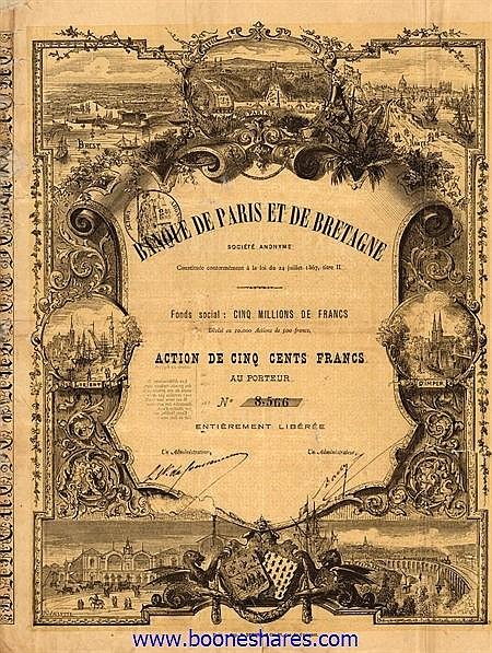 BANQUE DE PARIS ET DE BRETAGNE S.A.