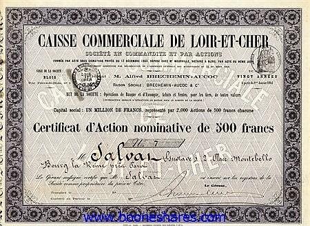 CAISSE COMMERCIALE DE LOIR-ET-CHER (2 types)