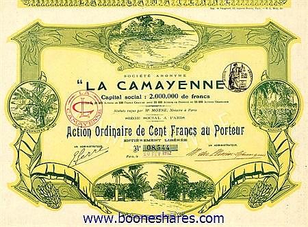 LA CAMAYENNE, S.A.