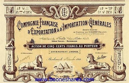 EXPORTATION & D'IMPORTATION GENERALES, CIE. FRANCAISE D'
