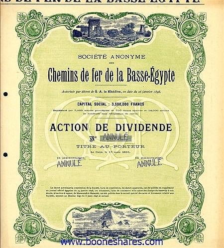 C.D.F. DE LA BASSE-EGYPTE, S.A. DES