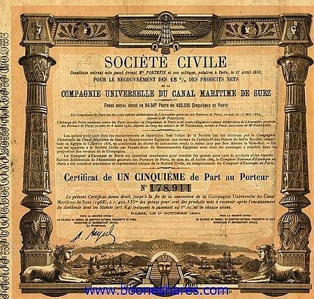 CANAL MARITIME DE SUEZ, CIE. UNIVERSELLE DU