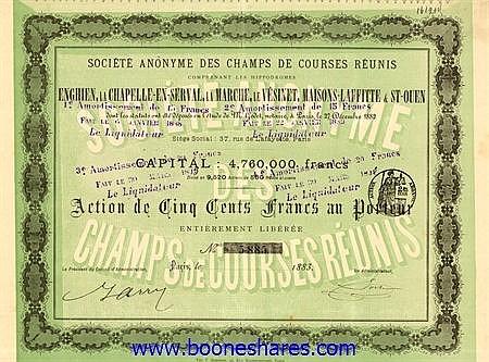 CHAMPS DE COURSES REUNIS, S.A. DES