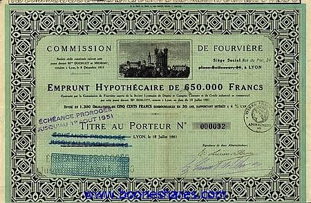 COMMISSION DE FOURVIERE SOC.