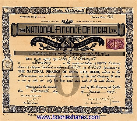 NATIONAL FINANCE OF INDIA LTD