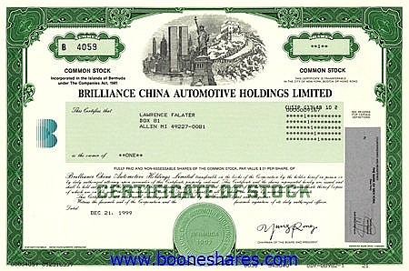 BRILLIANCE CHINA AUTOMOTIVE HOLDINGS LTD