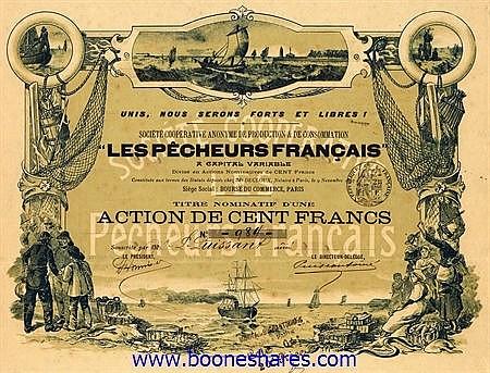 LES PECHEURS FRANCAIS, SOC. COOP. AN. DE PRODUCTION & DE CONSOMMATION