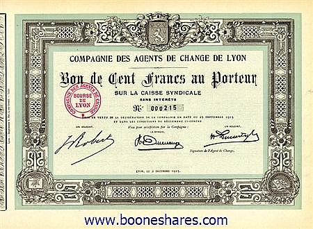 AGENTS DE CHANGE DE LYON, CIE. DES