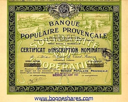 BANQUE POPULAIRE PROVENCALE S.A.