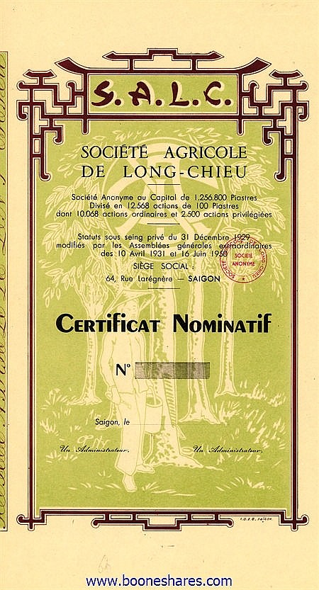 AGRICOLE DE LONG-CHIEU, SOC.