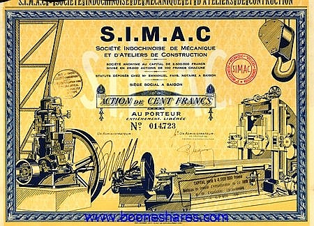 INDOCHINOISE DE MECANIQUE ET D'ATELIERS DE CONSTRUCTION - S.I.M.A.C.