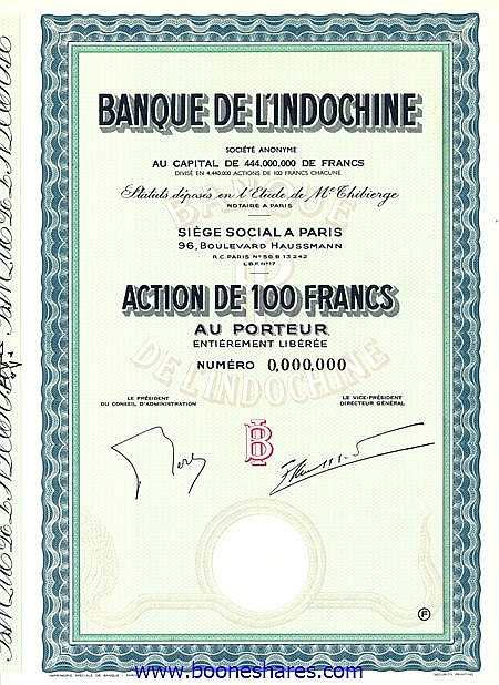 BANQUE DE L'INDOCHINE S.A.