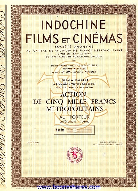 INDOCHINE FILMS ET CINEMAS S.A.