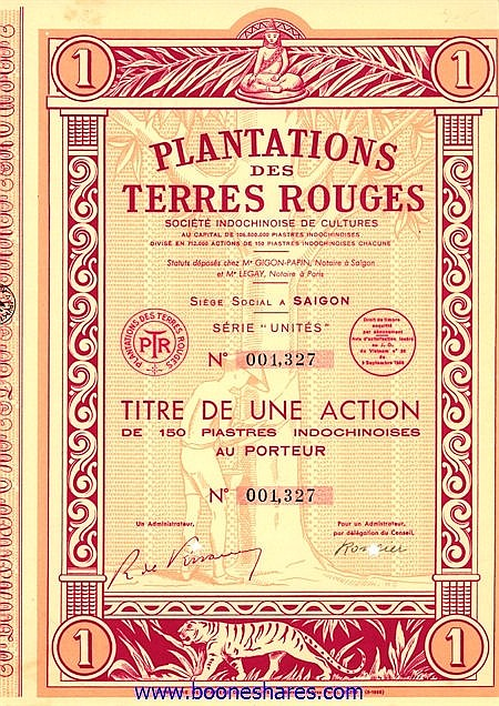 PLANTATIONS DES TERRES-ROUGES SOC. INDOCHINOISE DE CULTURES