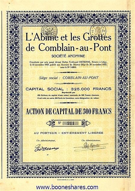 ABIME ET LES GROTTES DE COMBLAIN-AU-PONT, L'