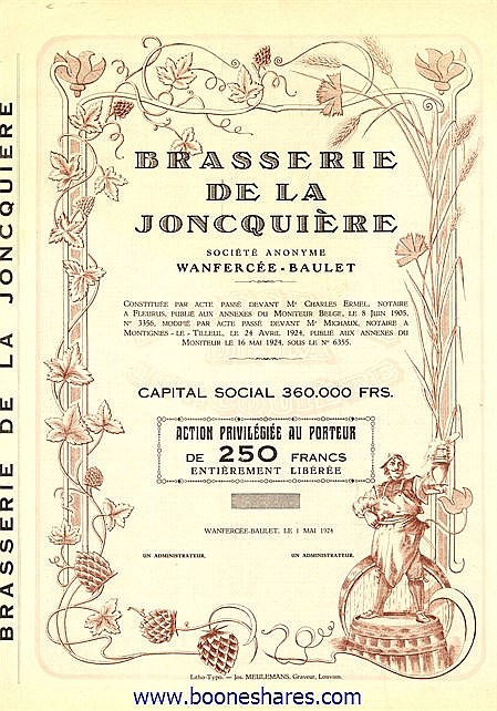 BRASSERIE DE LA JONCQUIERE S.A.