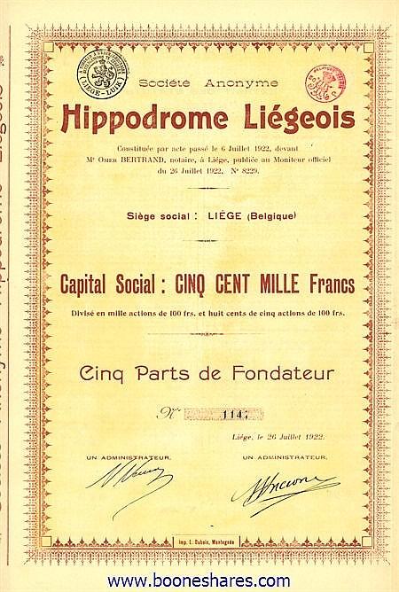HIPPODROME LIEGEOIS S.A.